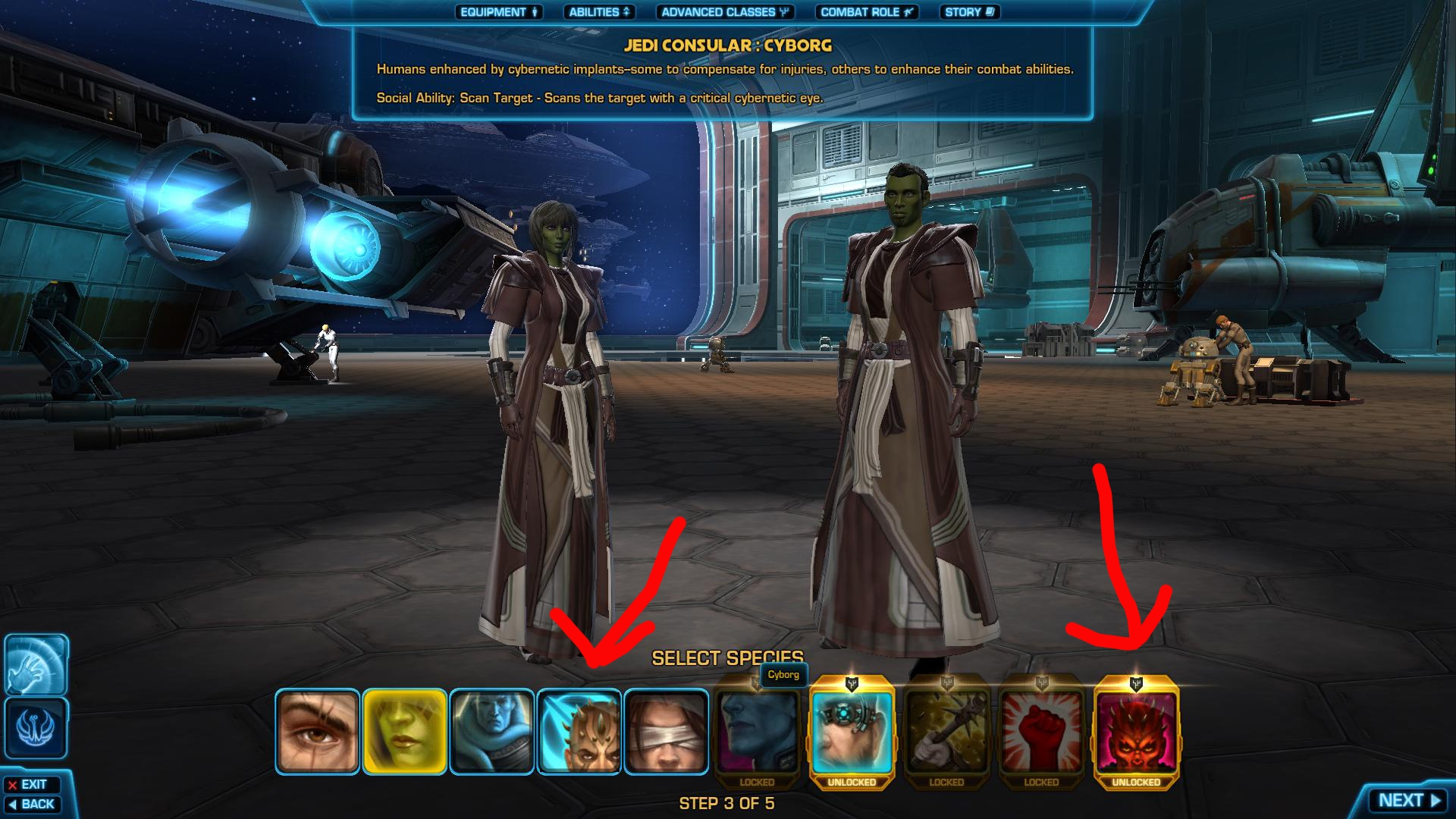 Cyborg And Zabrak Character Creation Post 1 2 Hawtpants Of The Old Republic