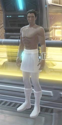 Guy in skirt