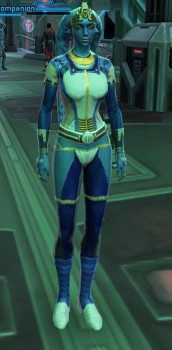 Looks like she peed her pants blue.