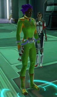 Random Image From Hall Of Shame:  More lime green and purple hair