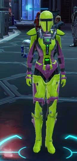 That's one super stealthy operative, you'll never see all that lime green coming
