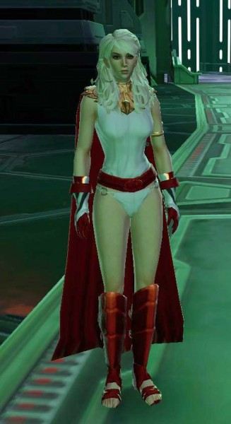 And the rest of the outfit had such potential. WHY NO PANTS?